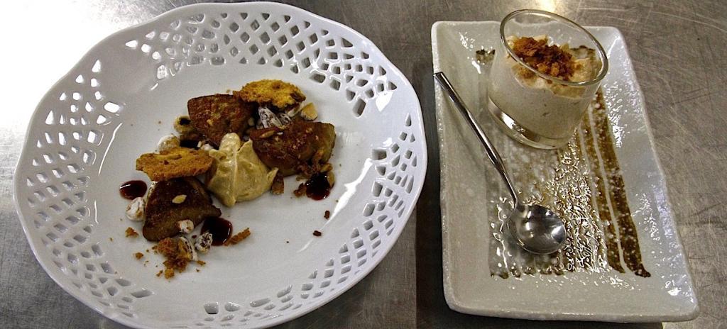 Davide Botta - Scaloppa di foie gras, toast e cappuccino di Panettone Loison ai fichi, ristretto di Recioto