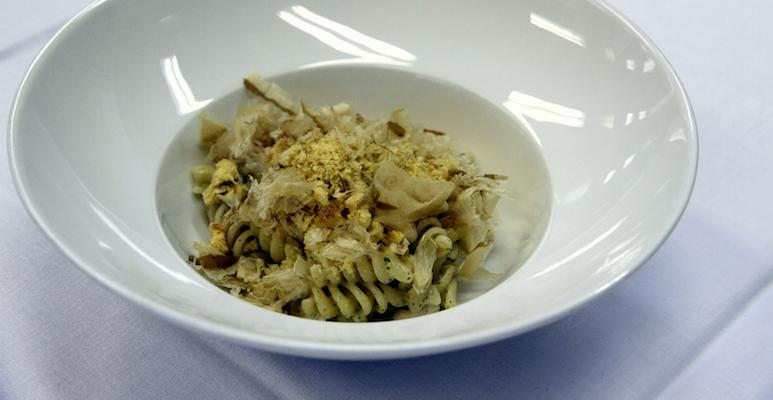 Piergiorgio Siviero - Fusilli, tonno, fagioli e cipolla con Croccante di Panettone Loison al Chinotto di Savona
