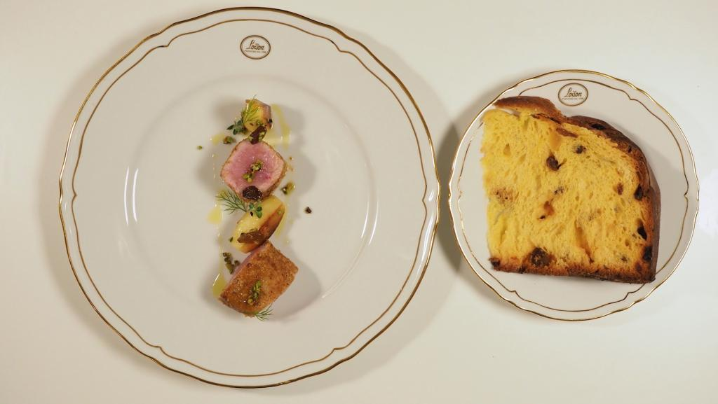 Filetto di vitello con polvere di Panettone Loison