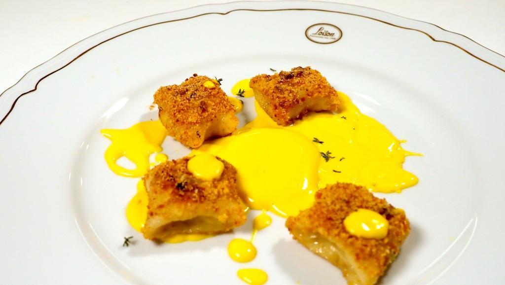 Gnocchi di Panettone con salsa allo zafferano di Chef Cristopher Carraro