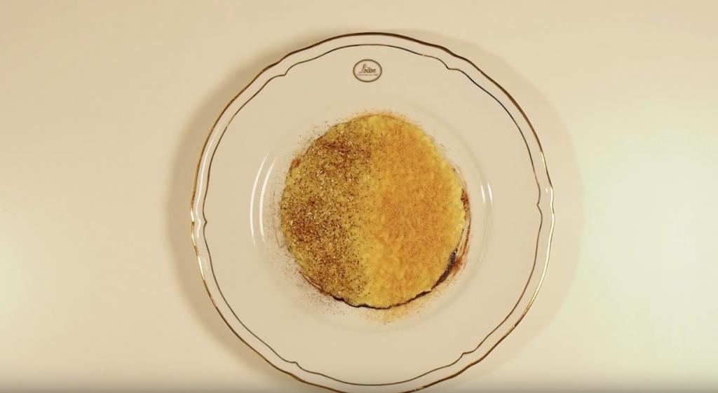 Risotto con Panettone e liquirizia di Chef Cristopher Carraro