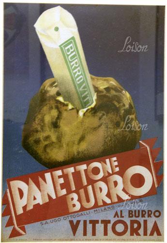 Manifesto Panettone Burro Vittoria