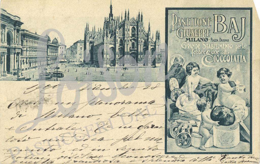 Postcard by Premiata Pasticceria-Confetteria Baj