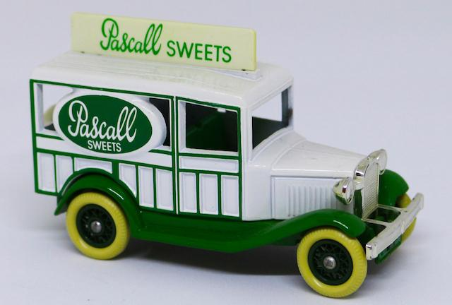 Mini reproductions of pastry company vehicles